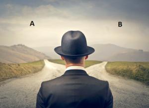 choice a b